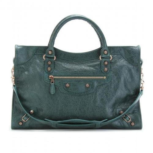 Balenciaga Giant 12 City Ledertasche Poker Fonce