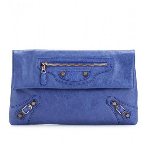 Balenciaga Giant 12 Envelope Clutch Bleu