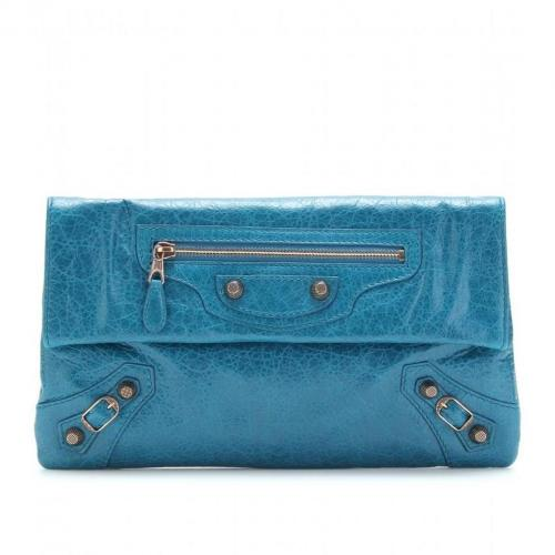 Balenciaga Giant 12 Envelope Clutch Lagon