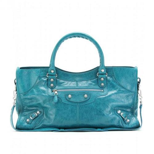 Balenciaga Giant 12 Part Time Ledertasche Lagon/DK Turquoise