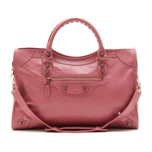 Balenciaga Giant 12 City Ledertasche Rosa