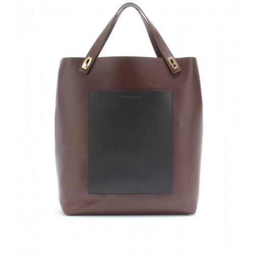 Balenciaga Pocket Tote L Ledershopper Chocolat/Noir