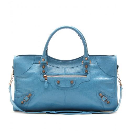 Balenciaga Giant 12 Part Time Ledertasche Blau