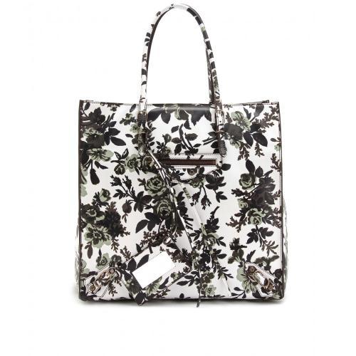 Balenciaga Ledershopper Mit Floralem Print Bunt