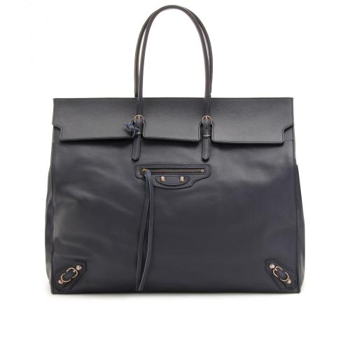 Balenciaga Large Papier Flap Bag Blau/Grün