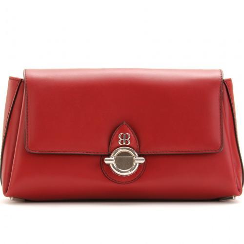 Balenciaga Lederclutch Rot