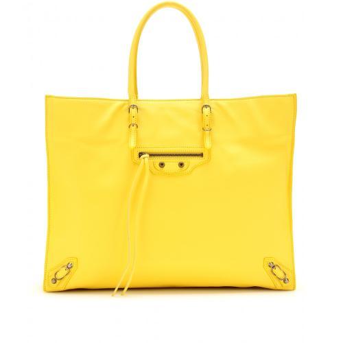 Balenciaga Shopper Leder Gelb