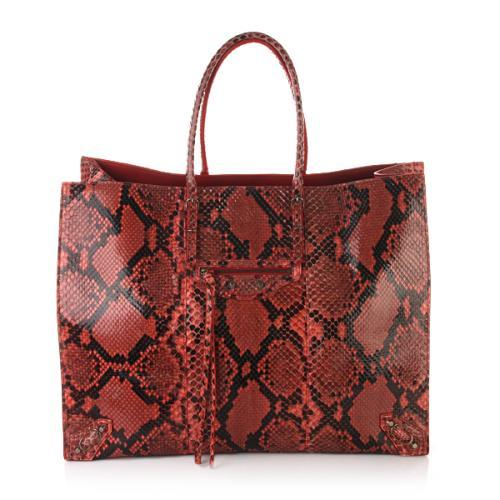 Balenciaga Python Tasche Papier A4 Rot