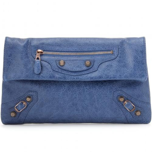 Balenciaga Giant 12 Envelope Clutch Blau
