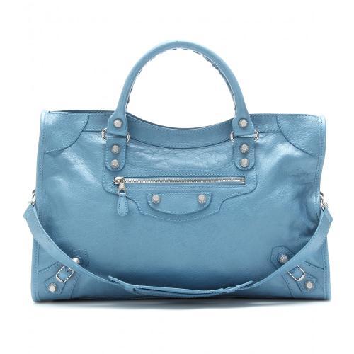 Balenciaga Giant 12 City Ledertasche Blau