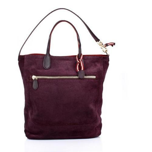 Bally Tote Macy Medium Aubergine Ladie
