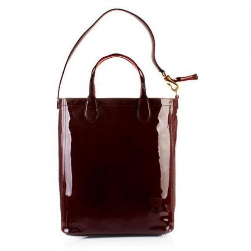 Bally Tote Macy Small Aubergine Ladie