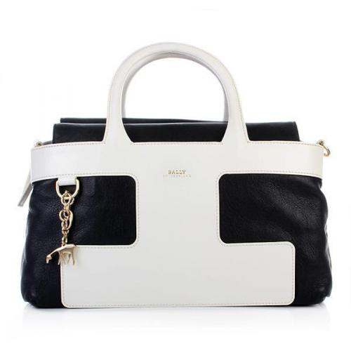 Bally Tote Pama Blue Navy Blanc