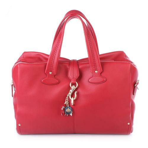 Bally Madria Medium Bowling Bag Red