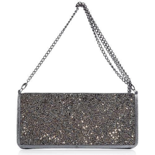 Balmain Clutch Bag Silber Metallic
