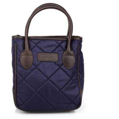 Barbour Quilted Nylon Jenny Tote Navy