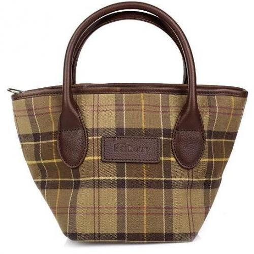 Barbour Tartan Tote Bag Muted