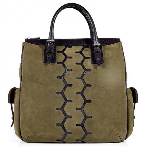 Belstaff Military Suede Chesterfield Bag