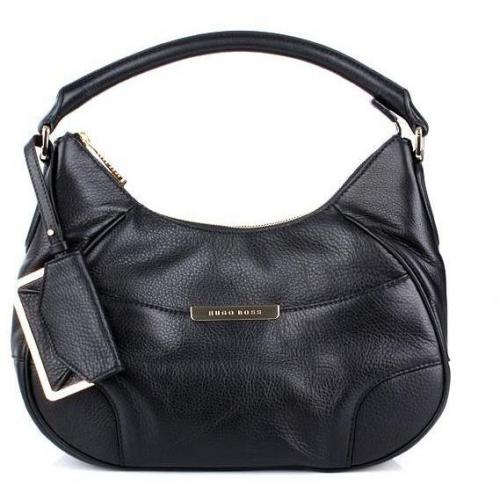 Boss Black Meggy Leder Shoulderbag Black