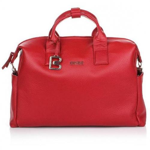 Bree Nola 8 Business Bag Grained Dark Red