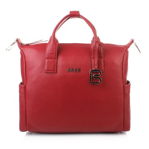 Bree Nola Rot 7 dark red business bag grained