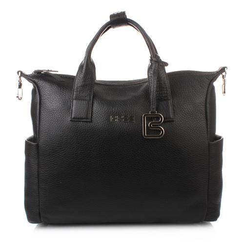 Bree Nola 7 schwarz business bag grained