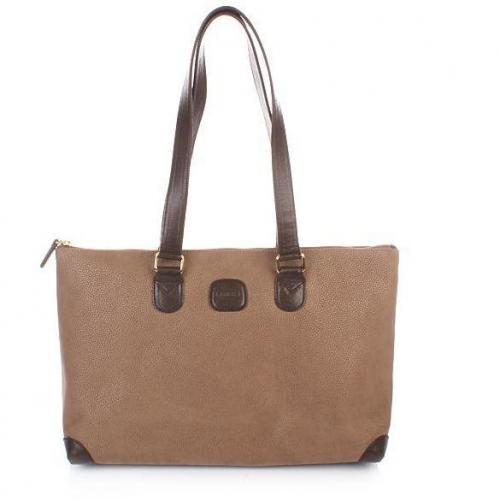 Bric's Life Handbag Shoulder Dove Grey