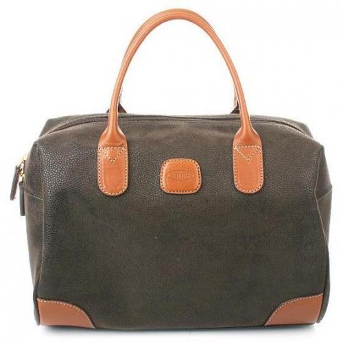 Bric's Life Handbag Tote Olive/Tobac