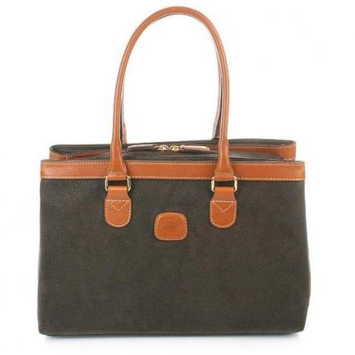 Bric's Life Handbag Zip-around Olive/Tobac
