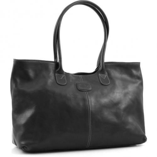 Brics Life Pelle Shopper Leder schwarz