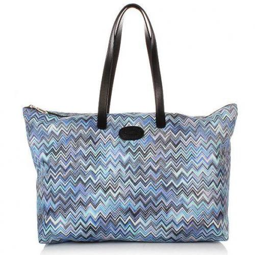 Bric's Missoni Nylon Damentasche Blau