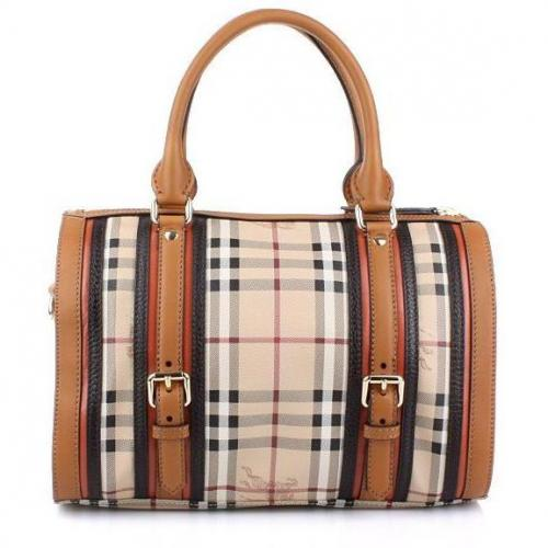 Burberry Alchester Bowling Medium Chocolate Check