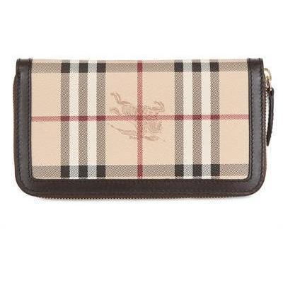 Burberry - Große Ziggy Haymarket Pvc Brieftasche