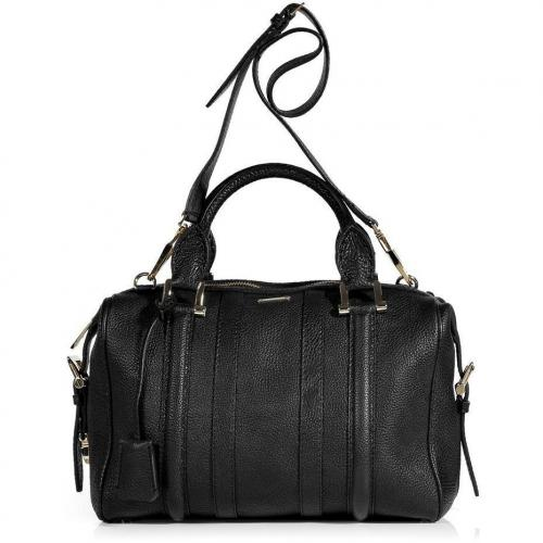 Burberry London Black Grainy Leather Medium Nevinson Bowling Bag