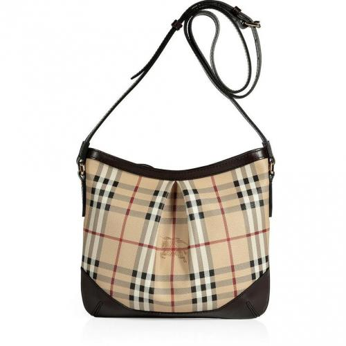 Burberry London Haymarket/Choco Check Crossbody Bag