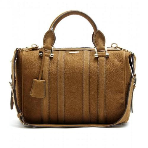 Burberry London Nevison Veloursleder-Bowling-Bag