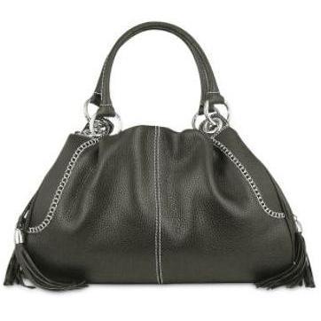 Buti Handtasche aus italienischem Leder in schwarz