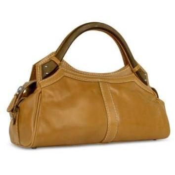 Buti Handtasche aus Leder mit Holzgriffen