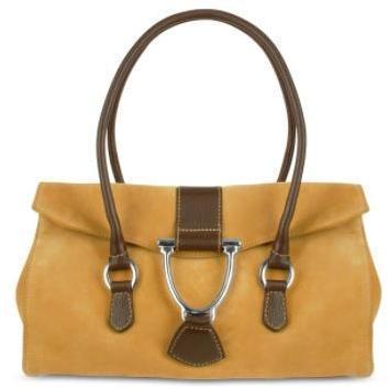 Buti Handtasche aus Leder und Wildleder in camelfarben