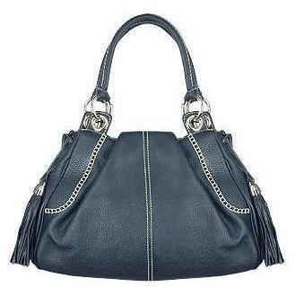 Buti Italienische Lederhandtasche in blau