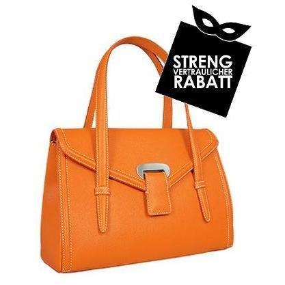 Buti Orange Handtasche aus geprägtem Leder