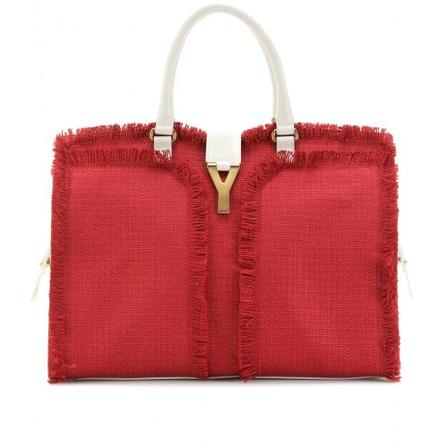 Yves Saint Laurent Cabas Chyc Large East/West Ledertasche Gelb/Orange/Rot