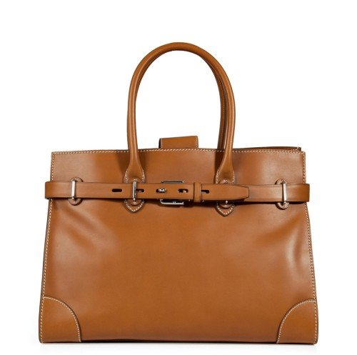 Ralph Lauren Collection RL Gold French Calfskin Renca Tote Bag