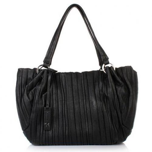 Calvin Klein E/W Shopping Stripes Black