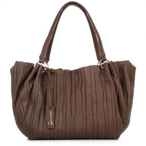 Calvin Klein E/W Shopping Stripes Brown