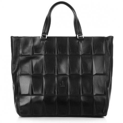Calvin Klein Satchel Leather 3D Black