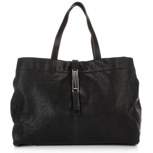 Calvin Klein Shopper Goat Leather Black