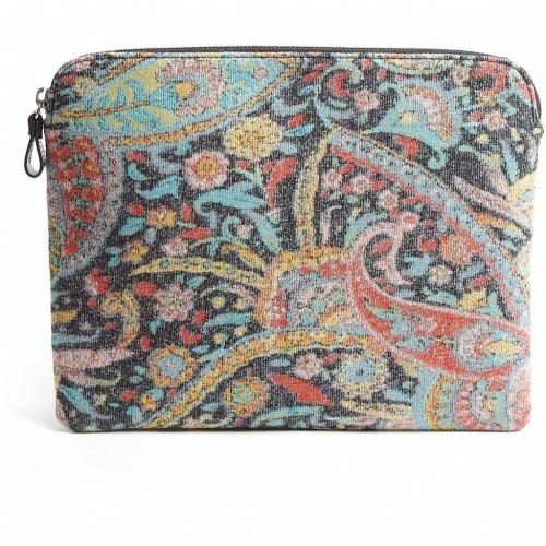 Carven Paisley Wool Jacquard Clutch