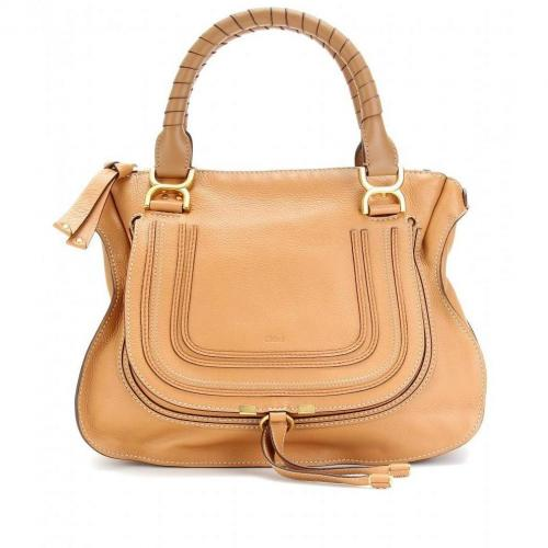Chloé Marcie Medium Ledertasche Ochre