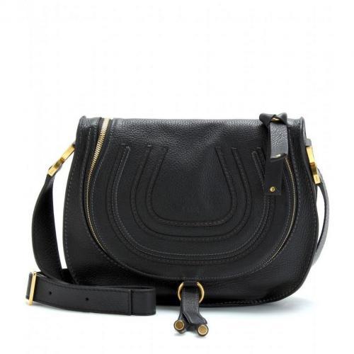 chlo marcie messenger ledertasche black. Black Bedroom Furniture Sets. Home Design Ideas
